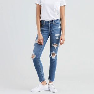 Levi's 711 Distressed Skinny Jeans